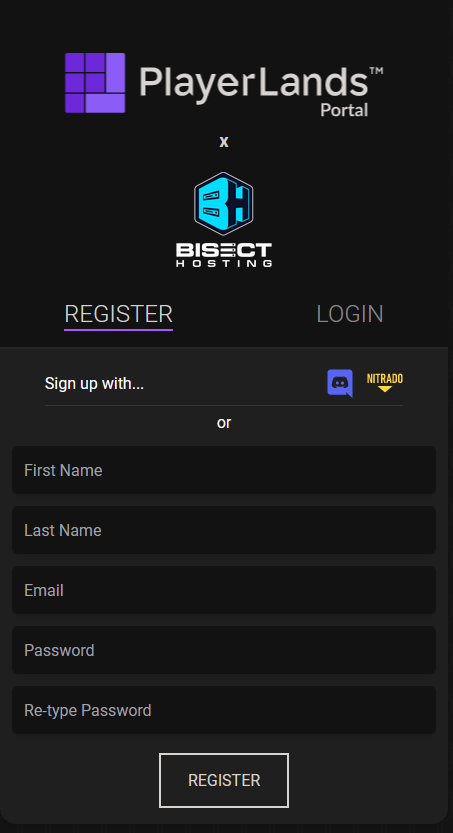Bisect Register with PlayerLands